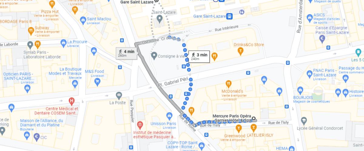 Pour vos tests, la pharmacie de la gare Saint-Lazare près de notre hôtel.